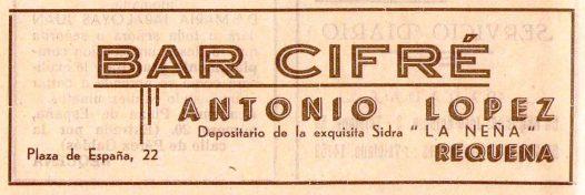 Bares - 1939-09-00 Bar Cifré en Programa Feria y Fiestas de Requena.jpg