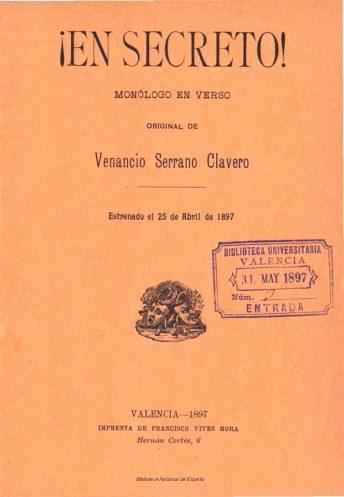 VSC - En Secreto (Monólogo en verso) (BDH) 25-04-1897 (portada).jpg
