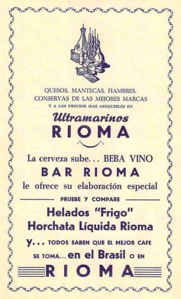 Bares - 1957-08-00 Bar y Ultramarinos Rioma en Programa Feria y Fiestas.jpg