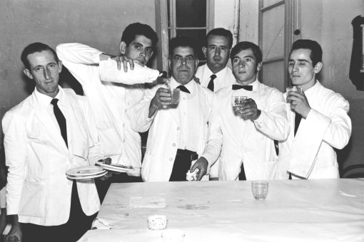 Bares - 1967-09-11 MGC Ángel Verdejo y otros camareros en Boda Julián Cano en Bar Martínez.jpg