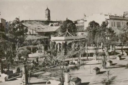 Glorieta - Postal de Requena - Parque del Doctor Gómez Ferrer (1950 aprox).jpg