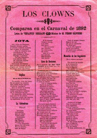 VSC - Los Clowns (Comparsa) 1892.jpg