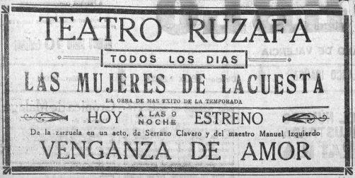 1926-11-19 El Pueblo (Valencia) - Venganza de Amor.jpg