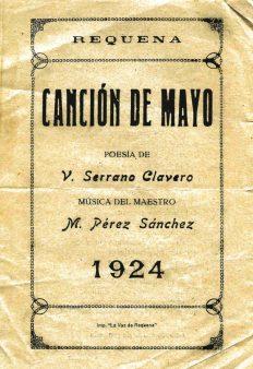 MPS - Mayos 1924 Canción de Mayo (Rondalla) Letra de Venancio Serrano Clavero.jpg