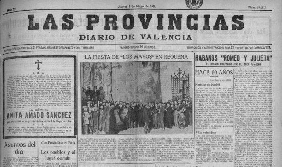 1928-05-03 Las Provincias - Canto de los Mayos en Requena.jpg