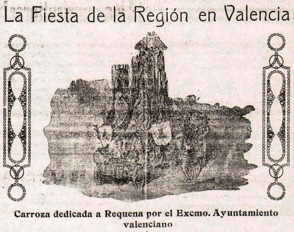 La Voz de Requena (047) 07-08-1921 Carroza de Requena en la Fiesta de la Región.jpg