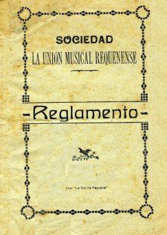 Portada Reglamento 1921 La Unión Musical Requenense.jpg